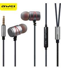 audífonos bluetooth manos libres inalámbricos, 910ty auriculares estéreos atados con alambre portables atados con alambre de la música del en-oído (gris)