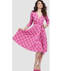 vestido christin dress p4gg rosado guess
