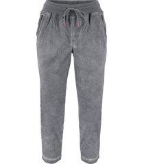 pantaloni 3/4 con laccetto a contrasto (grigio) - bpc bonprix collection