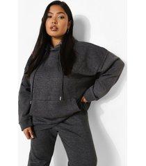 plus oversized gerecyclede basic hoodie, charcoal