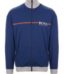 boss bright blue authentic logo track jacket 50403128-438
