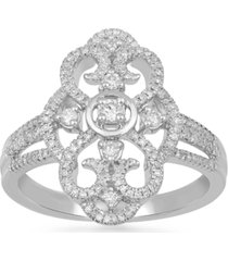 diamond fancy openwork statement ring (3/8 ct. t.w.) in 10k white gold