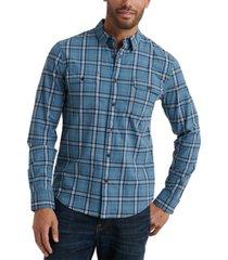 lucky brand men's saturday stretch regular-fit plaid workwear shirt