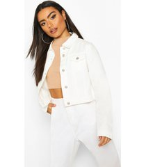 boxy jean jacket, white