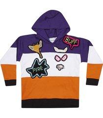 michaela buerger striped hoodie
