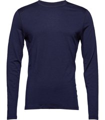 mens 200 oasis ls crewe base layer tops blauw icebreaker