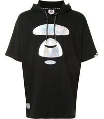 aape by *a bathing ape® graphic print drawstring hoodie - black