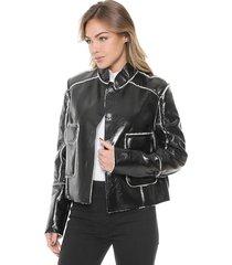 jaqueta carmim resinado pelo preto