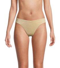 weworewhat women's delilah shimmery bikini bottom - sand - size m