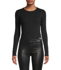 ck jeans women's cotton-blend bodysuit - black - size xl