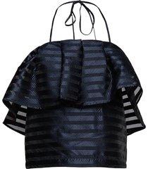 micheala blouse mouwloos zwart baum und pferdgarten