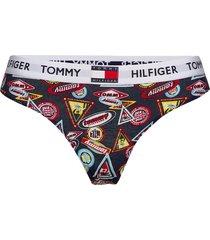thong print stringtrosa underkläder multi/mönstrad tommy hilfiger