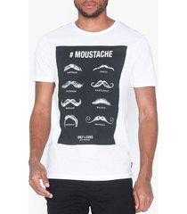 only & sons onsmsaxon slim ss tee t-shirts & linnen vit