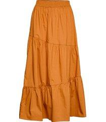 pipa knälång kjol orange mango