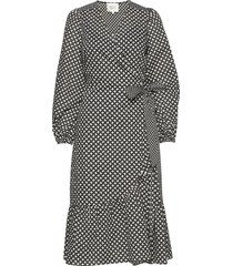 gamma ls midi dress jurk knielengte zwart second female