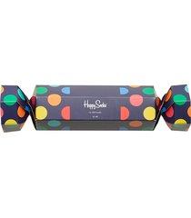 christmas cracker big dot gift box underwear socks regular socks multi/mönstrad happy socks