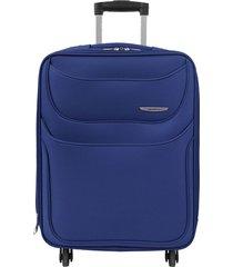 maleta de viaje mediana azul runner - explora