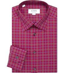 contemporary-fit plaid cotton shirt