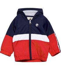 hooded windbreaker jack jas rood timberland