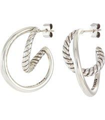 jane' twisted double hoop earrings