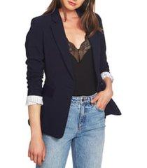 women's 1.state one-button stretch crepe blazer, size 12 - blue