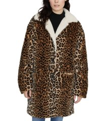 sanctuary sierra animal-print faux-fur coat