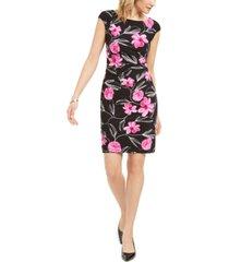 kasper floral-print sheath dress