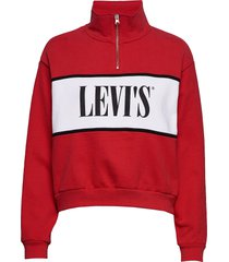 cb logo sweatshirt logo sweats sweat-shirt trui rood levi´s women