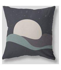 amaro feminino design up living capa de almofada noite 42x42, azul marinho