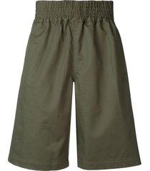 comme des garçons shirt cargo shorts - green