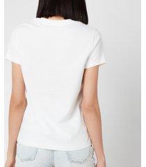 kenzo women's tiger crest classic t-shirt - white - l