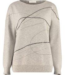 fabiana filippi embroidered wool sweater