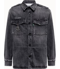 department 5 camicia broz in denim grigio