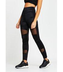 river island womens black ri active mesh panelled leggings