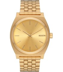nixon time teller stainless steel bracelet watch 37mm