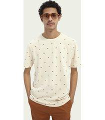 scotch & soda jersey cotton-blend t-shirt