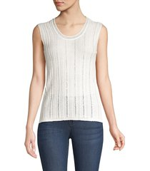 m missoni women's crochet knit tank top - marshmallow - size 40 (4)