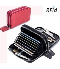 borsa da uomo portamonete con portamonete porta carte di credito per 12 carte multifunzione in vera pelle rfid