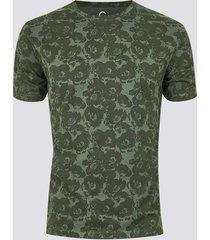 mönstrad t-shirt i ekologisk bomull - grön