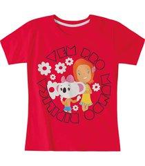 camiseta mundo ripilica - 11400087i - vermelho - menina - dafiti