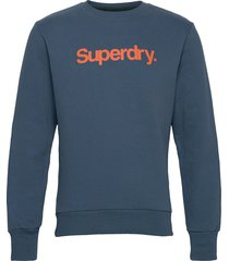 cl canvas crew sweat-shirt trui blauw superdry