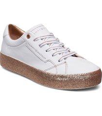 glitter foxing dress låga sneakers vit tommy hilfiger