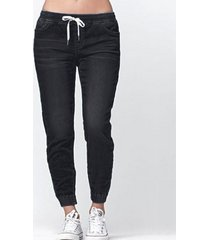 atar diseño cintura con cordón jeans