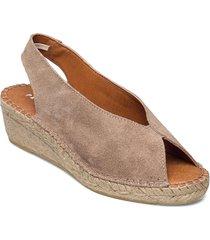 willow sandalette med klack espadrilles beige pavement