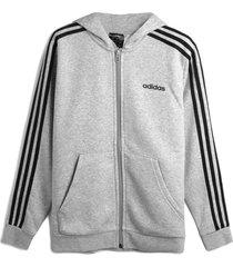 jaqueta adidas performance menino listrada cinza