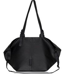 côte & ciel designer men's bags, coated canvas black amu oversized tote bag