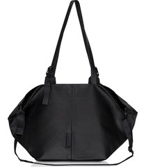 côte & ciel designer travel bags, coated canvas black amu oversized tote bag