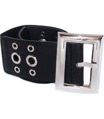 cinturon elastico con ojetillos negro mailea