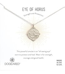 dogeared eye of horus necklace silver stone