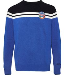 bluette and blue blended cashmere mans sweater
